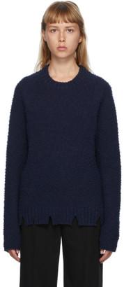 Maison Margiela Navy Pilled Gauge Sweater