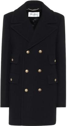 Saint Laurent Wool and angora coat