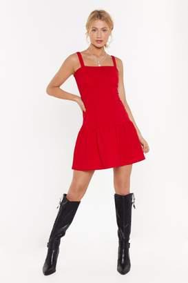 Nasty Gal Womens Fake It Frill You Make It Ruffle Mini Dress - Red - 6, Red
