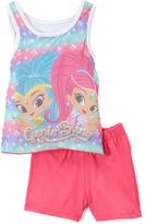 Children's Apparel Network Shimmer & Shine Pink Tank & Shorts - Toddler & Girls