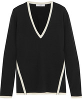 Lanvin Two-tone Wool Sweater - Black