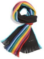 Paul Smith Men's Rainbow Edge Wool Scarf