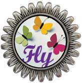 GiftJewelryShop Ancient Style Silver Plate Butterfly Fly Sunflower Pins Brooch