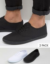 Asos Sneakers 2 Pack In Black and White