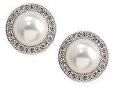 Nadri Pearl Pav Frame Faux-Pearl Stud Earrings