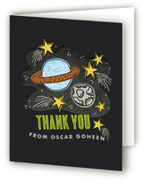 Minted Blast Off to Space Children's Birthday Party Thank You Cards