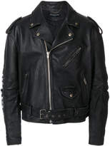 Balenciaga Bal painted biker jacket