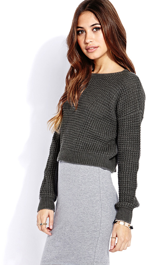 Forever 21 Cozy Cropped Sweater