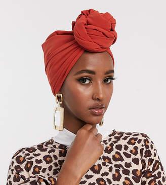 Verona chiffon maxi headscarf in burnt orange