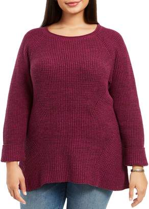 Style&Co. Style & Co. Plus Marled Pullover Sweater