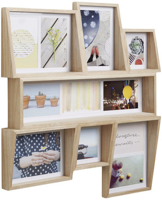 Umbra Edge 7-Opening Collage Wall Frame, Natural