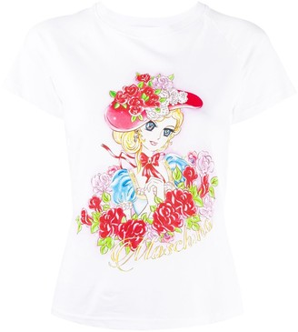 Moschino cartoon-print T-shirt