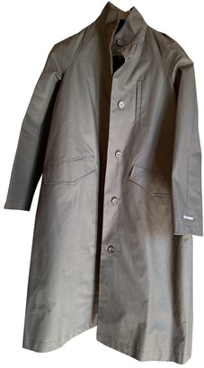 Stutterheim Black Cotton Trench Coat for Women