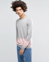 Asos Merino Mix Jumper With Stripe
