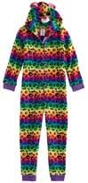 Girls 4-12 TY® Beanie Boos Rainbow Leopard Print Fleece One-Piece Pajamas