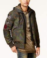 American Rag Men's Hooded Camo Bomber Jacket, Created for Macy's