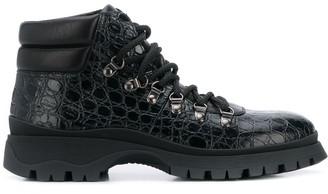 Prada Textured Hiking Style Boots