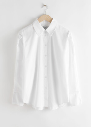 And other stories Pleated Shoulder Cotton Shirt