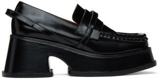 SHUSHU/TONG Black Platform Loafers