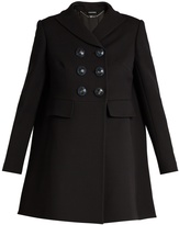 Alexander McQueen Double-breasted wool and silk-blend coat