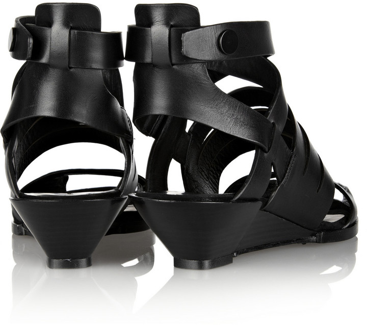 Alexander Wang Dalane cutout leather wedge sandals