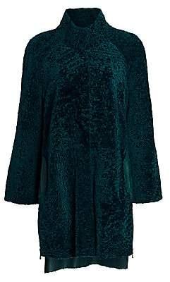 The Fur Salon Women's Julia & Stella For The Fur Salon Leather-Lined Shearling Lamb Fur Coat