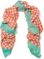 Marc by Marc Jacobs Printed wool scarf