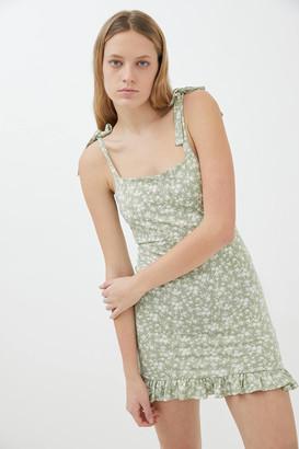 Urban Outfitters Ballina Tie-Shoulder Mini Dress