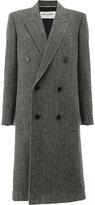 Saint Laurent tweed double breasted coat - women - Silk/Cotton/Polyamide/Virgin Wool - 38