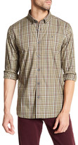 Victorinox Long Sleeve Plaid Print Tailored Fit Shirt