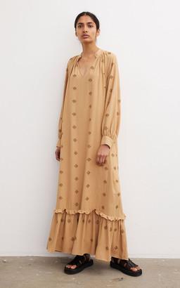 By Malene Birger Rosalin Beaded Crepe Maxi Dress