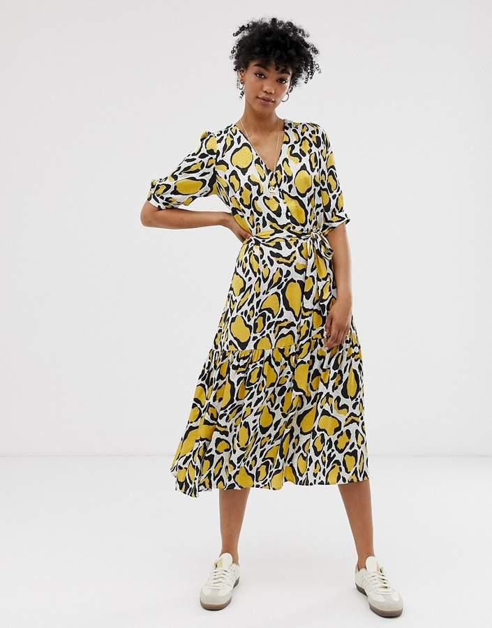 3460eb1a8a Yellow Midi Dress - ShopStyle UK