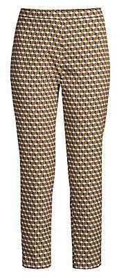 Elie Tahari Women's Marcia Cubist Stretch-Jacquard Pants