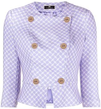 Elisabetta Franchi Graphic-Print Cropped Jacket