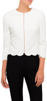Ted Baker Heraly Scallop Detail Crop Jacket