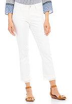 NYDJ Billie Bootcut Ankle Jeans with Fringe Hem