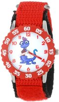 "Disney Kids' W000886 Randall ""Randy"" Boggs Stainless Steel Time Teacher Red Bezel Red Nylon Strap Watch"