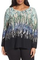 Nic+Zoe Plus Size Women's Glowing Edge Linen Blend Sweater