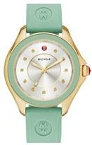 Michele Women's 'Cape' Topaz Dial Silicone Strap Watch, 40Mm