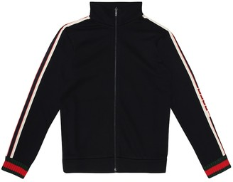 Gucci Kids Logo-taped cotton track jacket