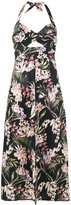 Zimmermann Floral Print Halter Neck Dress