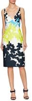 Milly Liz Cotton Floral Print Sheath Dress