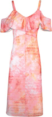 Rachel Roy Marcella Tie Dye Cold Shoulder Rib Dress