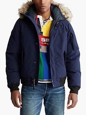 Ralph Lauren Polo Faux Fur Trim Down Jacket