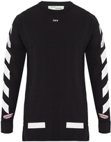 Off-White Logo-print long-sleeved cotton T-shirt