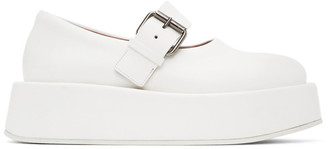 Marsèll SSENSE Exclusive White Platform Buckle Shoes