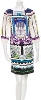 Mary Katrantzou Printed Satin Dress