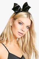boohoo Womens Lyla Halloween Bat Headband in Black size One Size