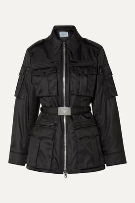 Prada Belted Shell Jacket - Black