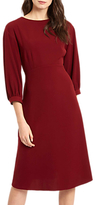 Jaeger Volume Sleeve Dress, Burgundy